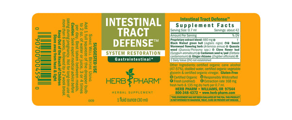 Herb Pharm Intestinal Tract Defense 1oz-Tinctures-The Scarlet Sage Herb Co.