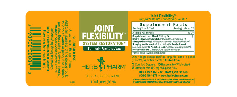Herb Pharm Joint Flexibility 1oz-Tinctures-The Scarlet Sage Herb Co.