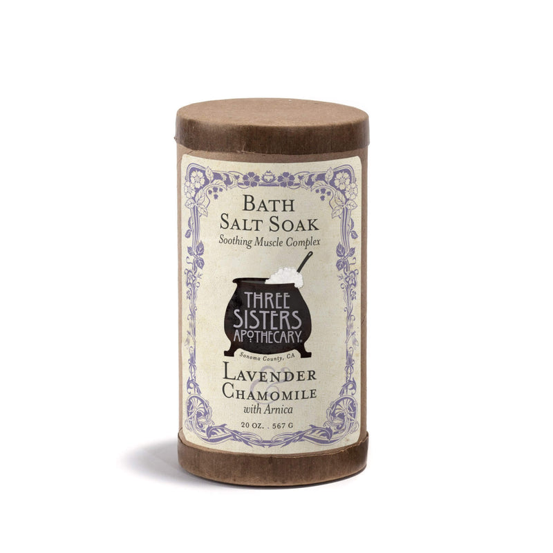Three Sisters Apothecary Bath Soak Lavender Chamomile 20oz - The Scarlet Sage Herb Co.