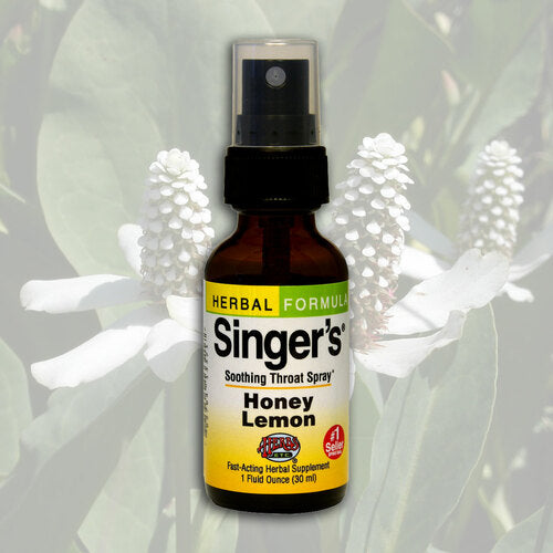 Herbs Etc Throat Spray Singers Honey Lemon1oz
