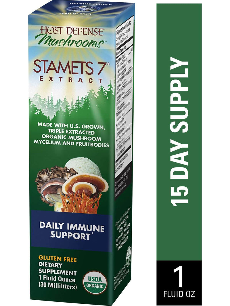Host Defense Stamets 7 Extract 1oz - The Scarlet Sage Herb Co.