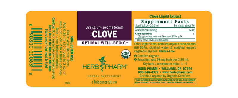 Herb Pharm Clove 1oz-Tinctures-The Scarlet Sage Herb Co.