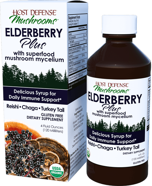 Host Defense Elderberry Plus 4oz-Supplements-The Scarlet Sage Herb Co.