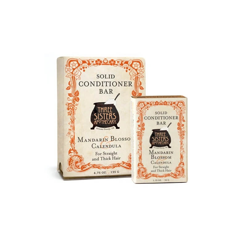 Three Sisters Apothecary Conditioner Bar Mandarin - The Scarlet Sage Herb Co.