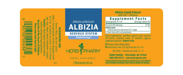 Herb Pharm Albizia 1oz-Tinctures-The Scarlet Sage Herb Co.