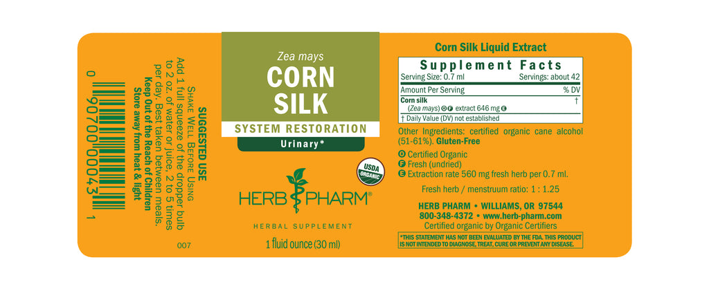 Herb Pharm Corn Silk 1oz