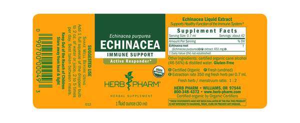 Herb Pharm Echinacea 4oz-Tinctures-The Scarlet Sage Herb Co.