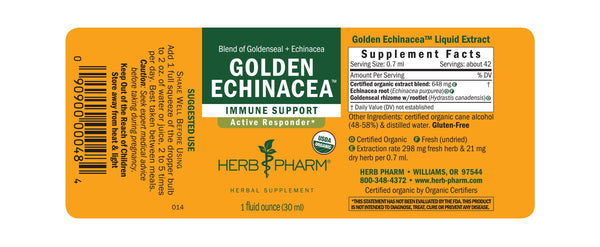 Herb Pharm Golden Echinacea 1oz-Tinctures-The Scarlet Sage Herb Co.