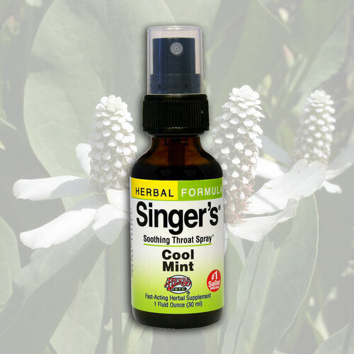 Herbs Etc Throat Spray Singers Cool Mint 1oz