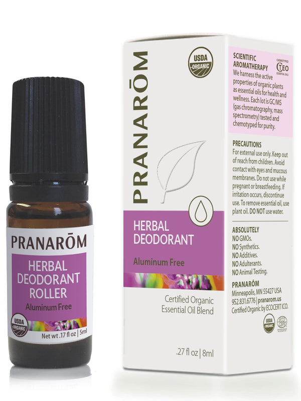 Pranarom Herbal Deodorant Roller 8ml-Aromatherapy-The Scarlet Sage Herb Co.