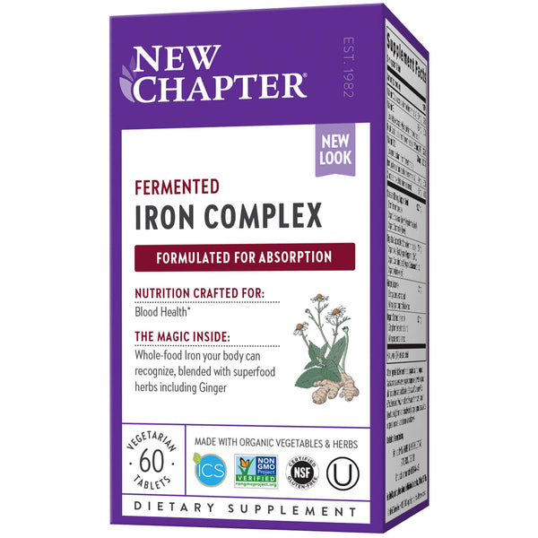 New Chapter Iron Food Complex 60ct-Supplements-The Scarlet Sage Herb Co.