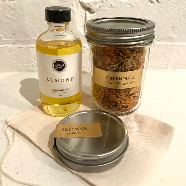 Calendula Salve Making Kit-Scarlet Sage Carrier Oils & Medicine Making Ingredients-The Scarlet Sage Herb Co.