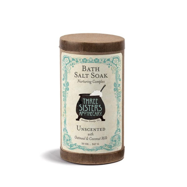 Three Sisters Apothecary Bath Soak Unscented 20oz-The Scarlet Sage Herb Co.