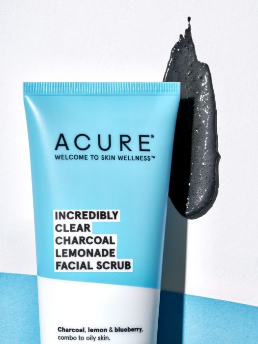 Acure Facial Scrub Incredibly Clear-Facial Skincare-The Scarlet Sage Herb Co.