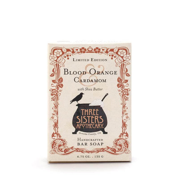 Three Sisters Apothecary Bar Soap Blood Orange Cardamom 4.75oz - The Scarlet Sage Herb Co.