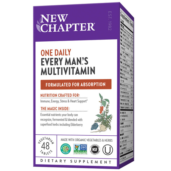 New Chapter Multi Every Man One Daily 48ct-Supplements-The Scarlet Sage Herb Co.