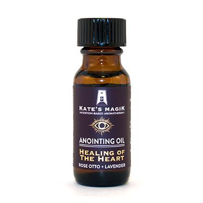 Kate's Magik Anointing Oil Healing of the Heart .5oz - The Scarlet Sage Herb Co.