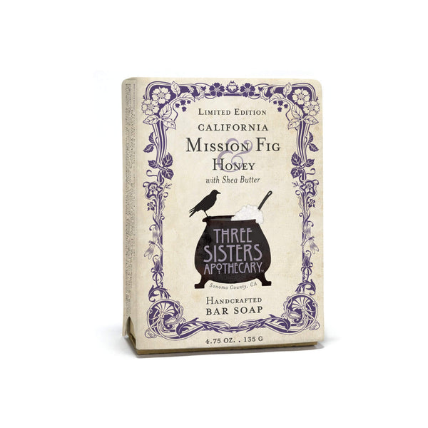 Three Sisters Apothecary Bar Soap Mission Fig & Honey 4.75oz - The Scarlet Sage Herb Co.