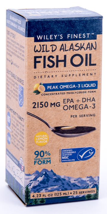Wileys Peak Omega 3 Liquid 4.23oz-Supplements-The Scarlet Sage Herb Co.