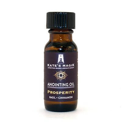 Kate's Magik Anointing Oil Prosperity .5oz - The Scarlet Sage Herb Co.