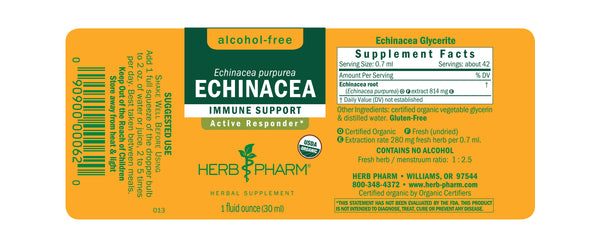 Herb Pharm Glycerite Echinacea 1oz-Tinctures-The Scarlet Sage Herb Co.