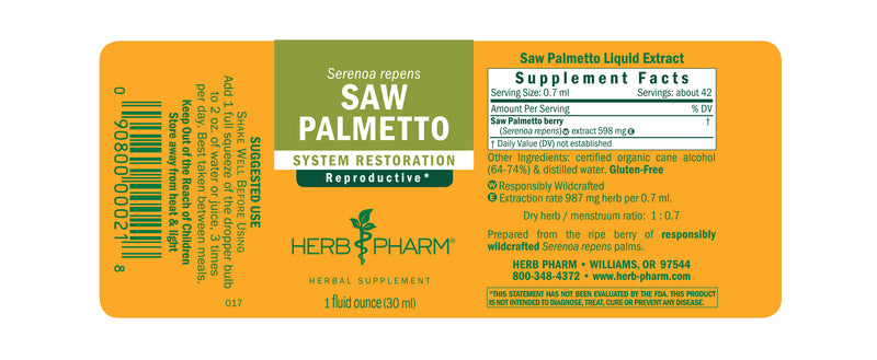 Herb Pharm Saw Palmetto 1oz