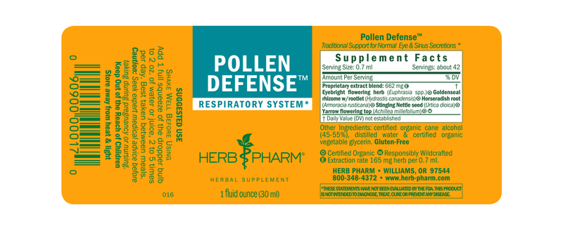 Herb Pharm Pollen Defense 1oz-Tinctures-The Scarlet Sage Herb Co.