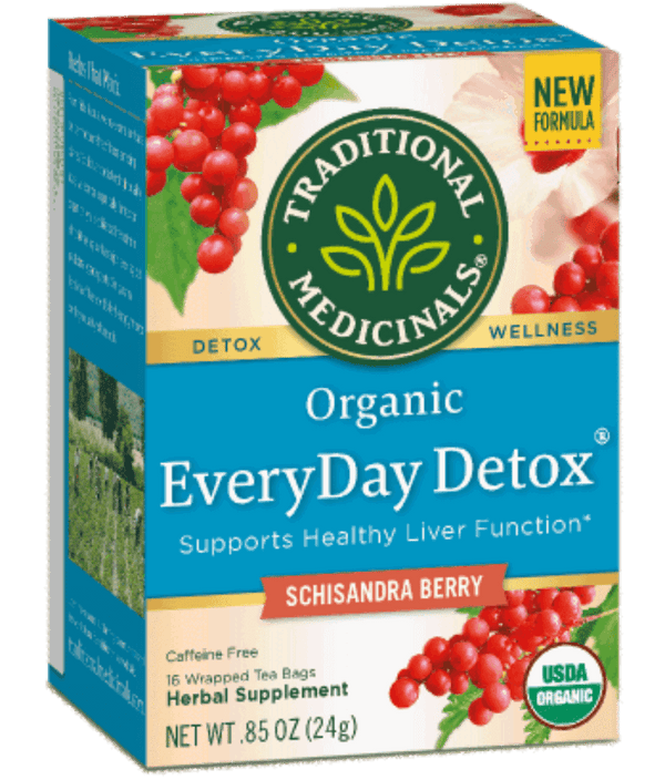 Traditional Medicinals Everyday Detox with Schisandra 16ct-Teas-The Scarlet Sage Herb Co.