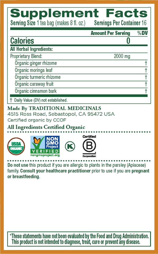 Traditional Medicinals Ginger Aid 16Ct