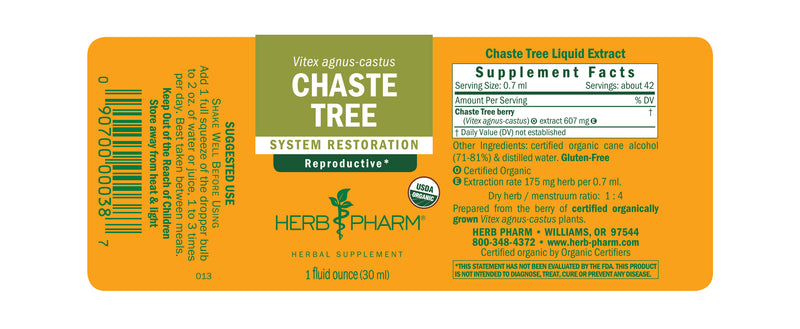 Herb Pharm Chaste Tree 4oz-Tinctures-The Scarlet Sage Herb Co.