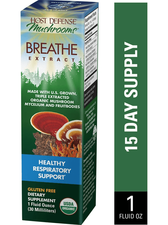 Host Defense Breathe Extract 1oz - The Scarlet Sage Herb Co.