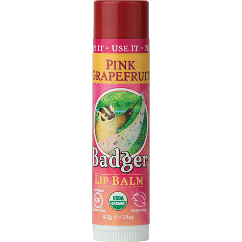 Badger Lip Balm Pink Grapefruit .15oz - The Scarlet Sage Herb Co.