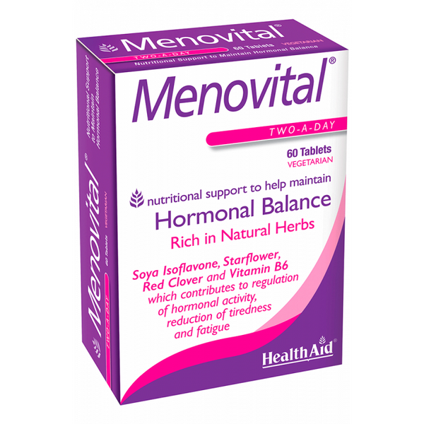 Health Aid Menovital 60ct-The Scarlet Sage Herb Co.