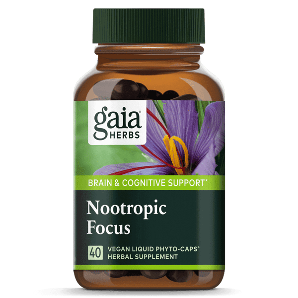 Gaia Herbs Nootropic Focus-Supplements-The Scarlet Sage Herb Co.