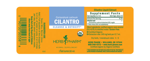 Herb Pharm Cilantro 1oz-Tinctures-The Scarlet Sage Herb Co.