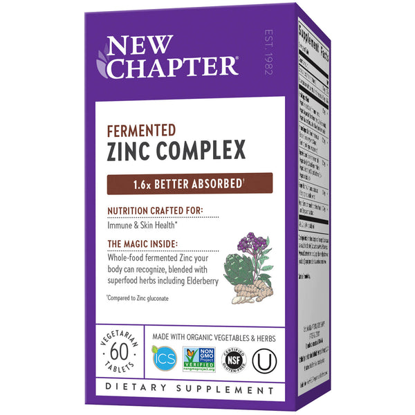 New Chapter Zinc Food Complex 60ct-Supplements-The Scarlet Sage Herb Co.