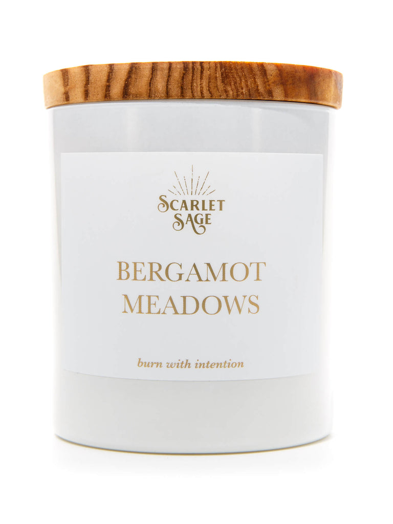 Scarlet Sage Candle - Bergamot Meadows - The Scarlet Sage Herb Co.