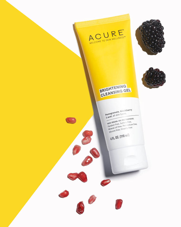 Acure Cleanser Brightening Gel 4oz-Skincare-The Scarlet Sage Herb Co.