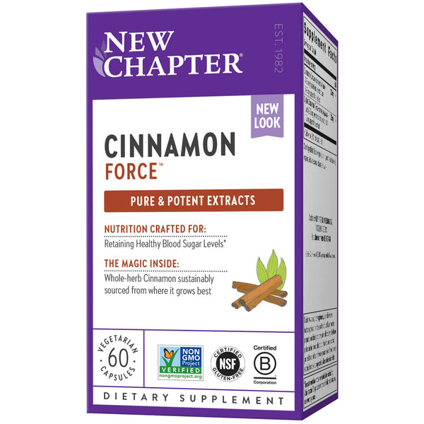 New Chapter Cinnamon Force 60ct-Supplements-The Scarlet Sage Herb Co.