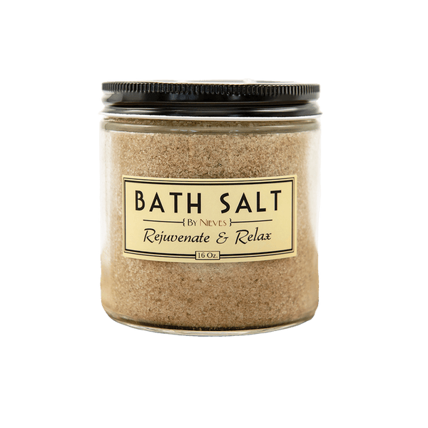 By Nieves Bath Salt 16oz - The Scarlet Sage Herb Co.