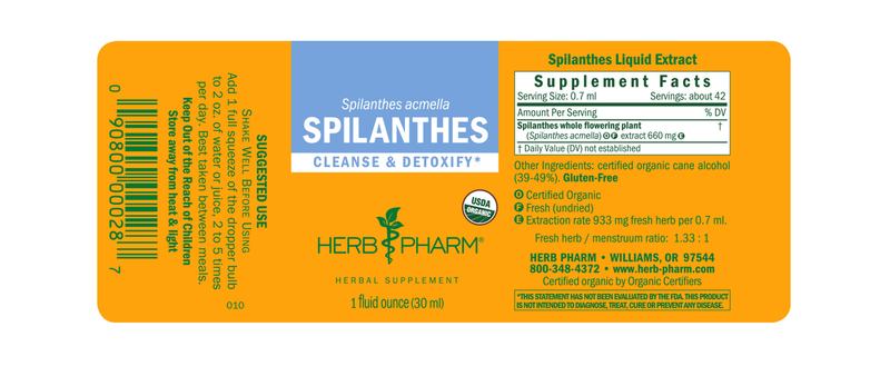 Herb Pharm Spilanthes 1oz-Tinctures-The Scarlet Sage Herb Co.
