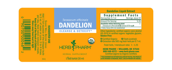 Herb Pharm Dandelion 1oz-Tinctures-The Scarlet Sage Herb Co.