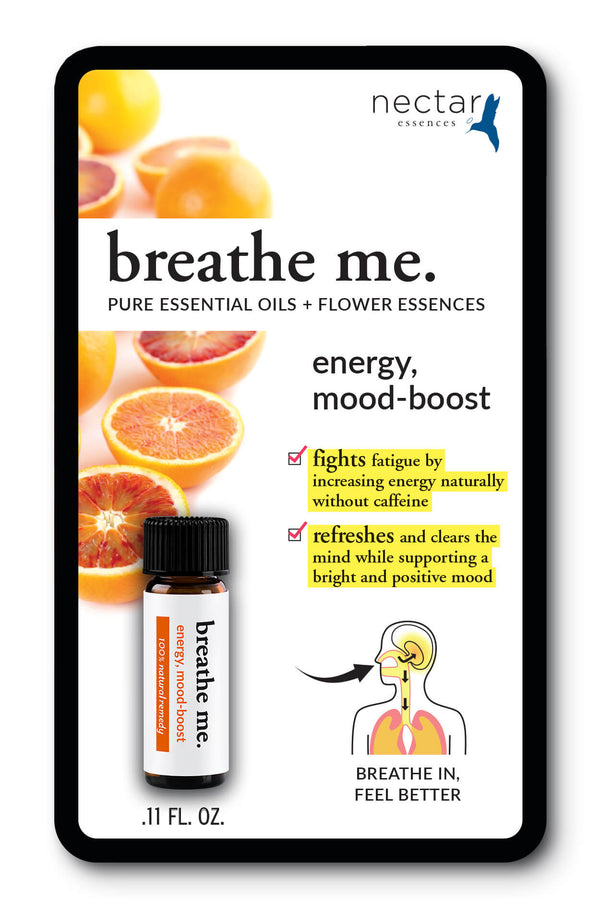 Nectar Essences Breathe Me Energy Mood-Boost .11 fl oz - The Scarlet Sage Herb Co.