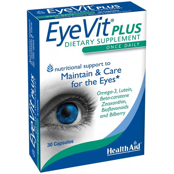 Health Aid EyeVit Plus 30ct-Supplements-The Scarlet Sage Herb Co.