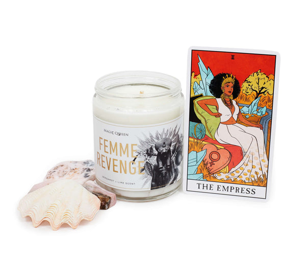 Magic Qween Candle Femme Revenge 8oz-Candles-The Scarlet Sage Herb Co.
