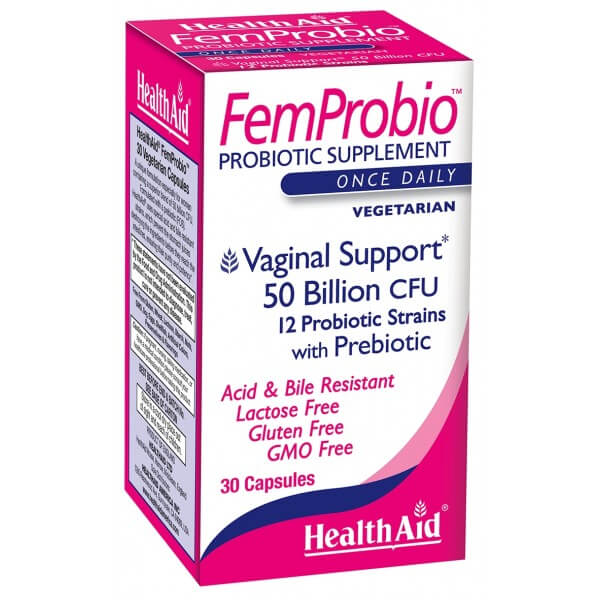 Health Aid FemProbio 50 Billion 30ct - The Scarlet Sage Herb Co.