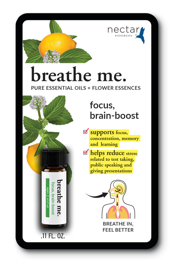 Nectar Essences Breathe Me Focus Brain Boost .11 fl oz. - The Scarlet Sage Herb Co.