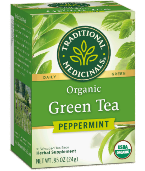 Traditional Medicinals Green Tea Peppermint 16ct-Teas-The Scarlet Sage Herb Co.