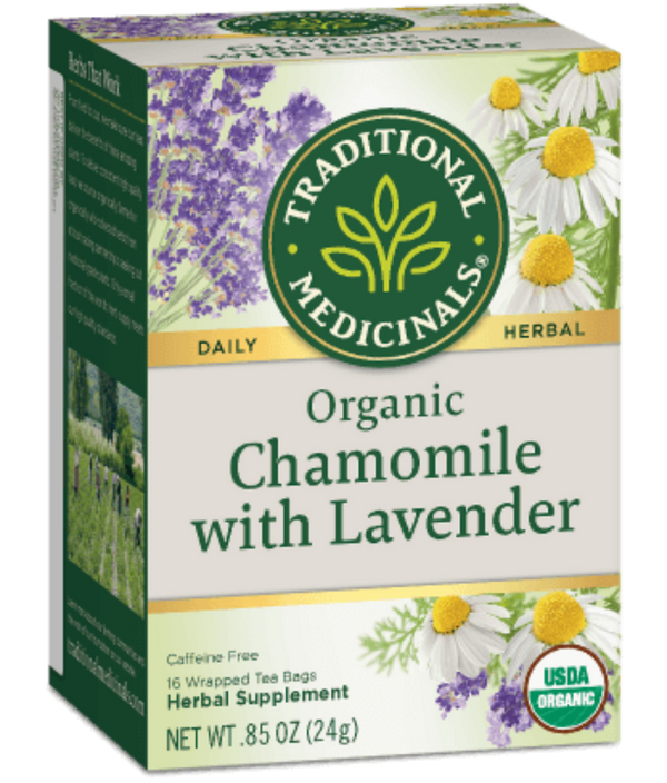 Traditional Medicinals Chamomile w/ Lavender 16Ct-Teas-The Scarlet Sage Herb Co.
