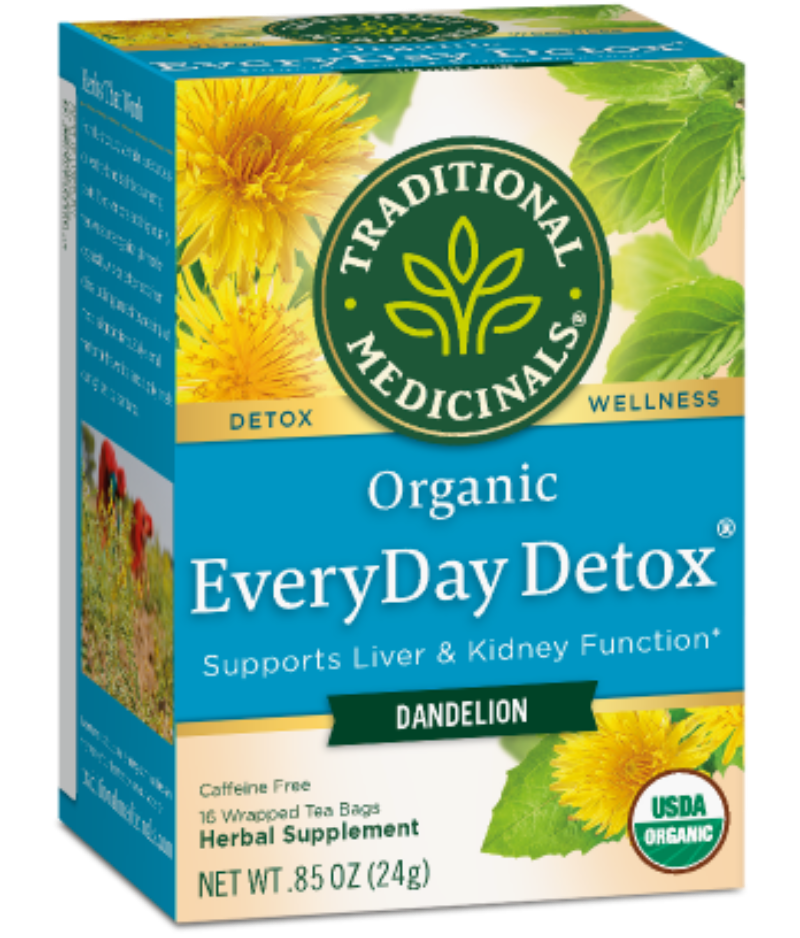 Traditional Medicinals Everyday Detox Dandelion 16ct-Teas-The Scarlet Sage Herb Co.